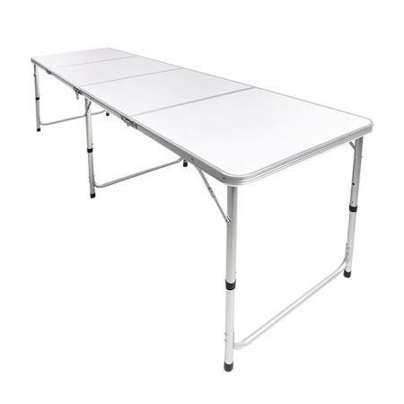 Image of Folding Camping Table Portable Picnic Outdoor Foldable Tables Aluminium BBQ Desk