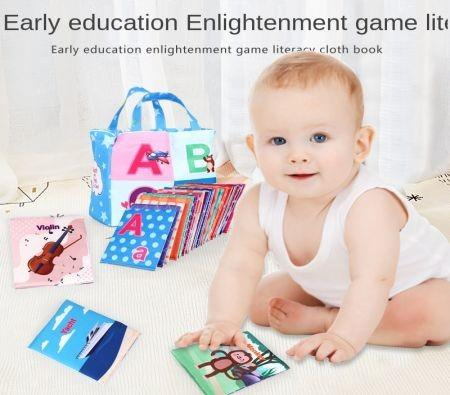 Image of 2021 Newest Creator Baby 26 Pieces of Montessori Early Education Zoo Series Set Soft Letter Card Cloth Book Word Enlightenment Book