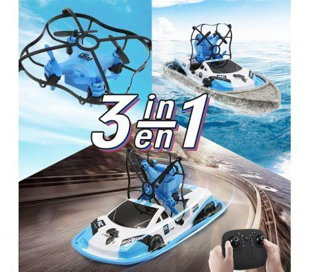 Image of 3in1 Mini Global RC Drone Triphibian Vehicle Boat Quadrocopter Land-water dual model Remote control Helicopter Toys For children
