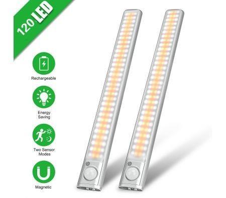 Image of Motion Sensor Led Lights, Backlit PIR Smart Lamp for Kitchen, Bedroom and Closet,2PCS