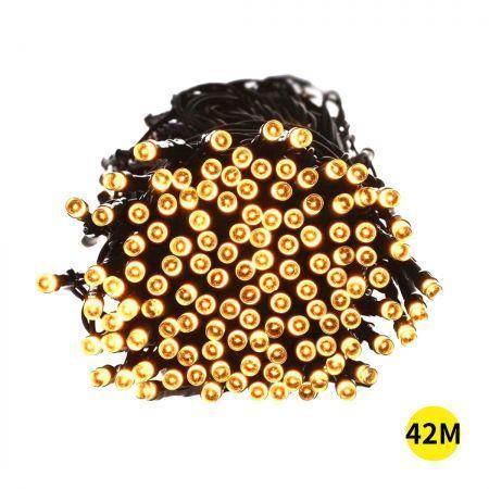 Image of 42M 400LED String Solar Powered Fairy Lights Garden Christmas D?cor Warm White
