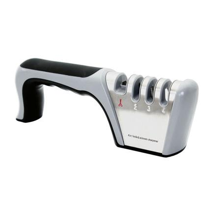 Image of 2021 4-Stage Knife Sharpener Premium Manual Works for Scissors,Ceramic,Steel Knives