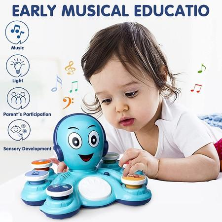 Image of Baby Musical Toy for Toddlers 1-3 Learning Toys, Octopus Preschool Music Educational Toys for Babies, Infant, Boys and Girls Birthday Gifts