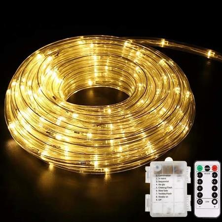 Image of 10Meter 100Led String Lamp Battery Christmas Light For Living Room Indoor Warm Color.