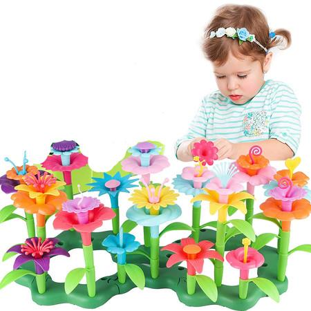Image of Girls Toys Age 3-6 Year Old Toddler Toys for Girls Boys Gifts Flower Garden Building Toy Educational Activity Stem Toys(109 PCS)