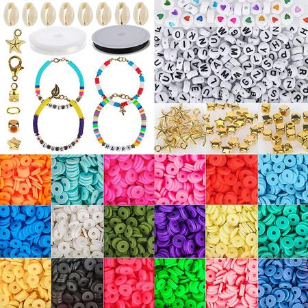 Image of 5000 Pcs Clay Letter Beads for Bracelets Necklace Making kit