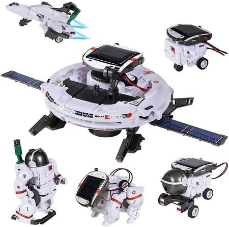 Image of STEM Toys 6-in-1 Solar Robot Kit Learning Science Building Toys Educational Science Kits Powered by Solar Robot for Kids 8-12 Year Old Boys Girls Gifts