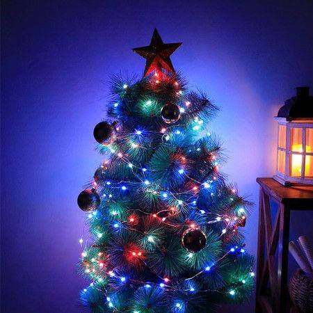 Image of LED String Lights Christmas Halloween 100LED 16 Changing Colors Lights USB Powered
