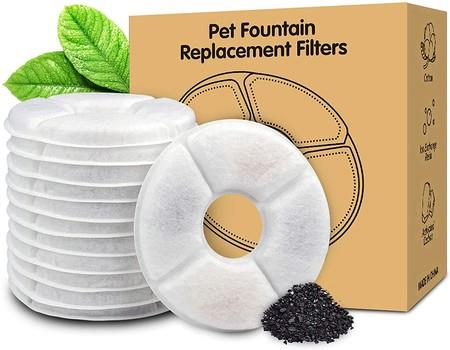 Image of 4-Pack Replacement Filters for Cat Fountain   Pet Water Fountain Filters   Activated Carbon Filters