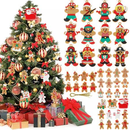 Image of 43pcs Gingerbread Man Pirates Ornaments for Christmas Tree Decorations Hanging
