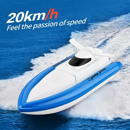 Image of 2021 Newest High Speed RC Boat Remote Control Race Boat 4 Channels 2.4G Waterproof Rc Ship Children Toys For Pools Lakes