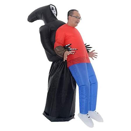 Image of Halloween Inflatable Grim Reaper Costume, Inflatable Scary Funny Blow Up Suit Cosplay for Adult