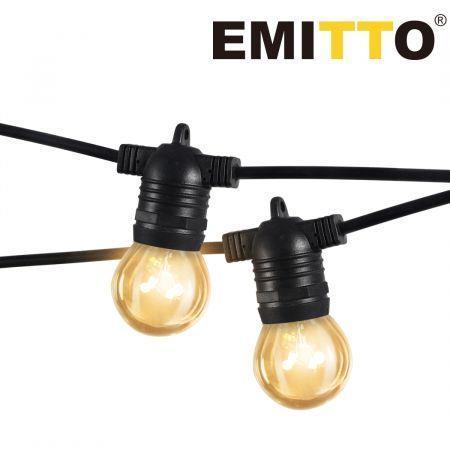 Image of EMITTO 10M Festoon String Lights Christmas Wedding Party Waterproof Outdoor