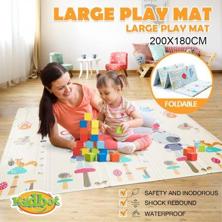 Image of 200cmx180cm 15mm Thick Reversible Baby Play Mat Kids Activity Gym Center