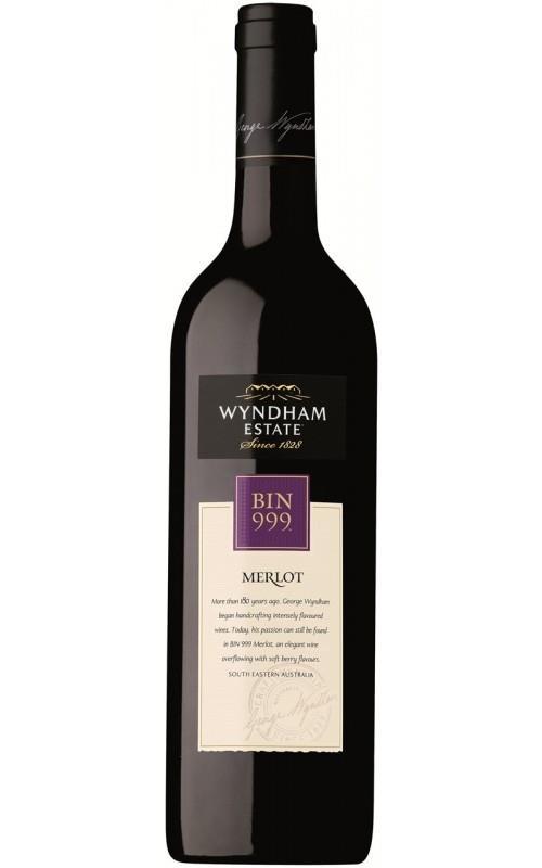 Wyndham Estate Bin 999 Merlot 2018 South Eastern Australia - 12 Bottles