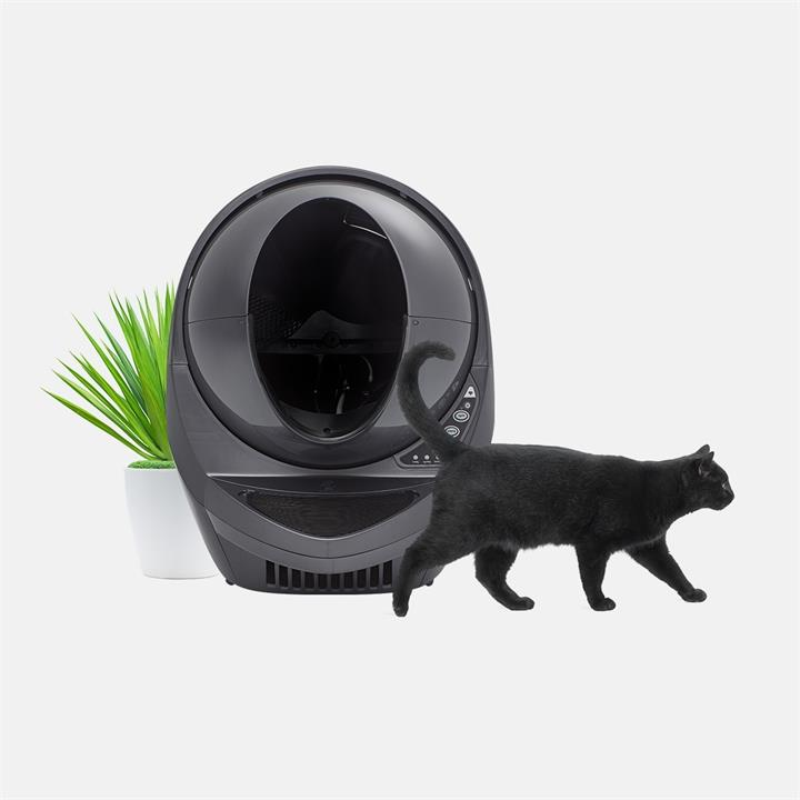 Litter Robot III Connect WIFI- Enabled Automatic Self Cleaning Cat Litter System - Gunmetal
