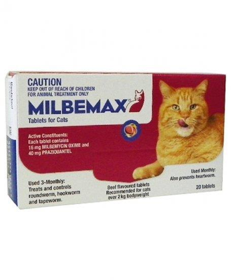 Milbemax All Wormer Beef-Flavoured Tablet for Cats 2-8kg - 20 Pack