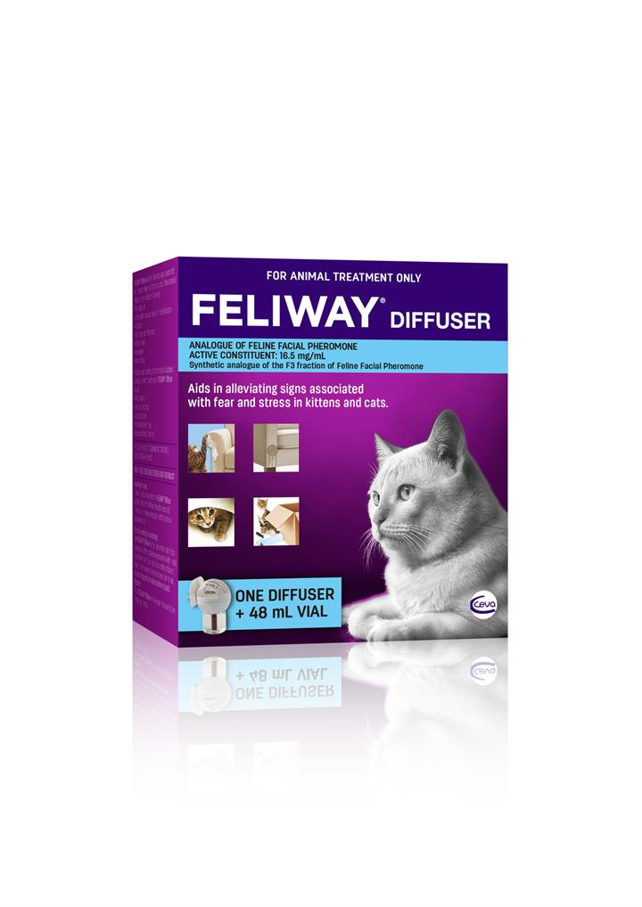 Feliway Calming Pheromone for Cats - Diffuser Kit with 48ml Bottle