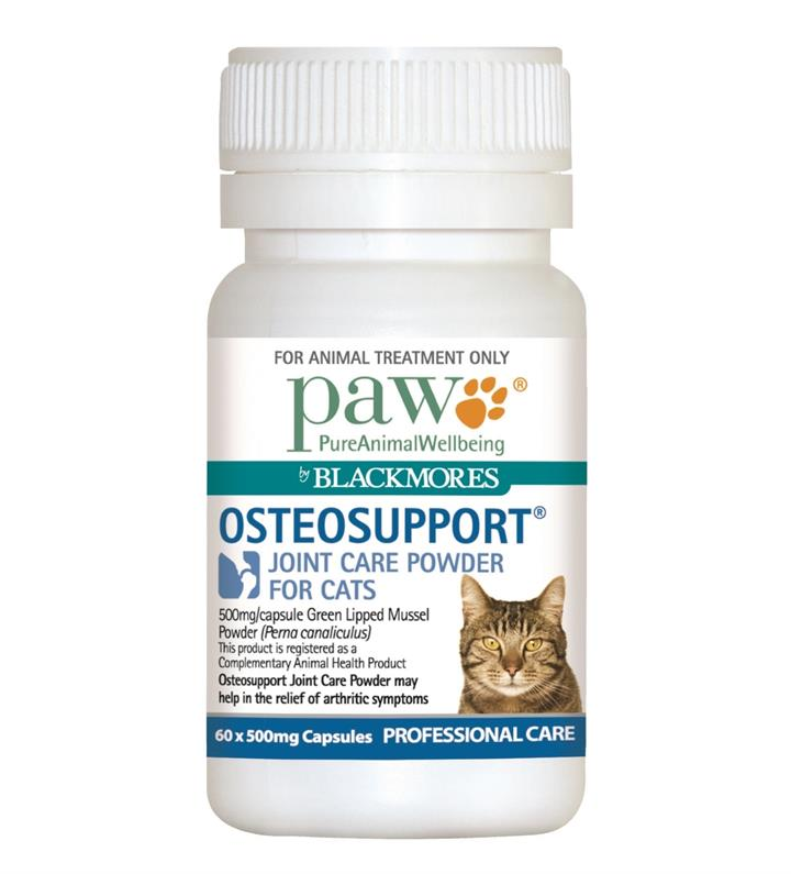 Paw Osteosupport Joint Care Powder Capsules for Cats - 60s