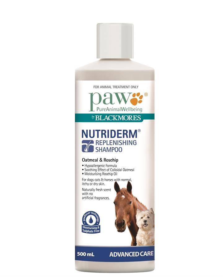 PAW NutriDerm Replenishing Shampoo for Dogs & Horses 500ml