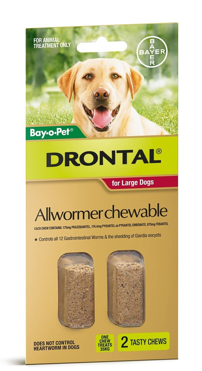 Drontal All-Wormer for Large Dogs to 35kg - 2 Chews