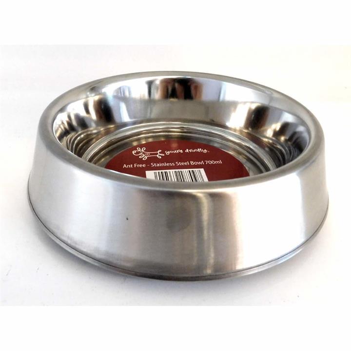 Ant-Free Stainless Steel Pet Food Bowl [Size: Medium]