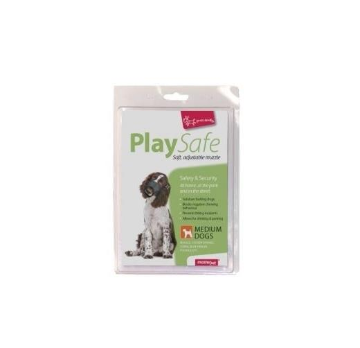 """Yours Droolly """"Play Safe"""" Soft Dog Muzzle [Size: Medium]"""