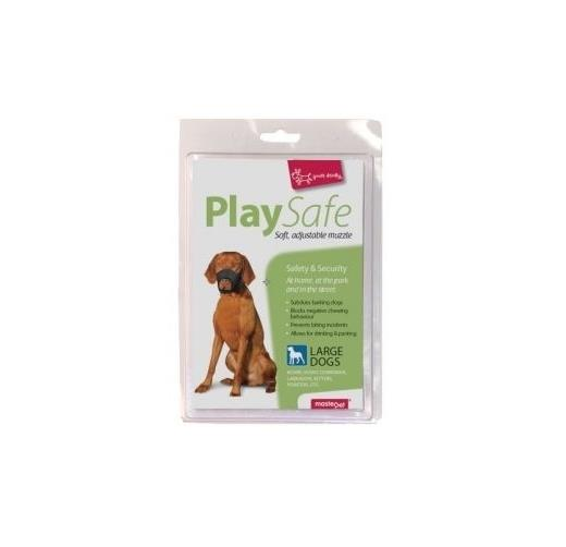 """Yours Droolly """"Play Safe"""" Soft Dog Muzzle [Size: Large]"""