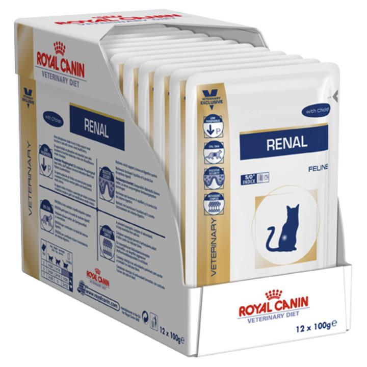 Royal Canin Prescription Renal Moist Cat Food - Chicken x 12 pouches