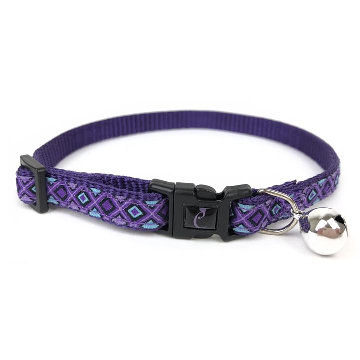 Cattitude Cat Collar with Breakaway Safety Clip & Bell - Lilac