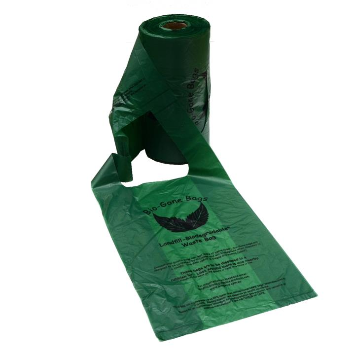 Bio-Gone Biodegradable Dog Poo Bags with Handles - 1 roll of 250 bags