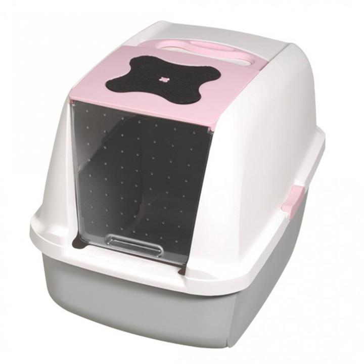 "Catit ""Clean"" Covered & Lockable Litter Pan [Colour: Pink]"