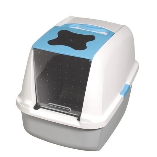 "Catit ""Clean"" Covered & Lockable Litter Pan [Colour: Blue]"