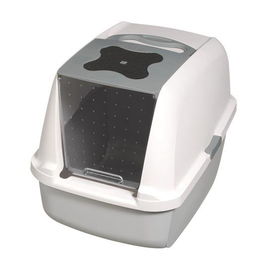 "Catit ""Clean"" Covered & Lockable Litter Pan [Colour: Grey]"