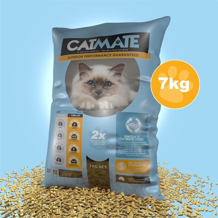 Cat Mate Eco-friendly Wood Pellet Australian Cat Litter [Size: 7kg]