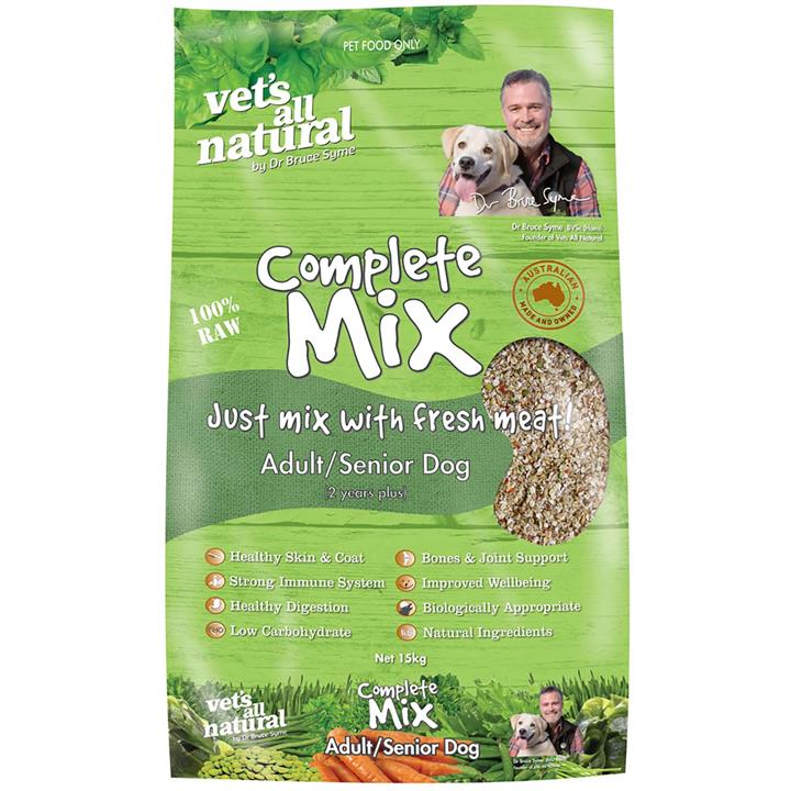 Vets All Natural Complete Mix Muesli for Fresh Meat for Adult and Senior Dogs - 15kg