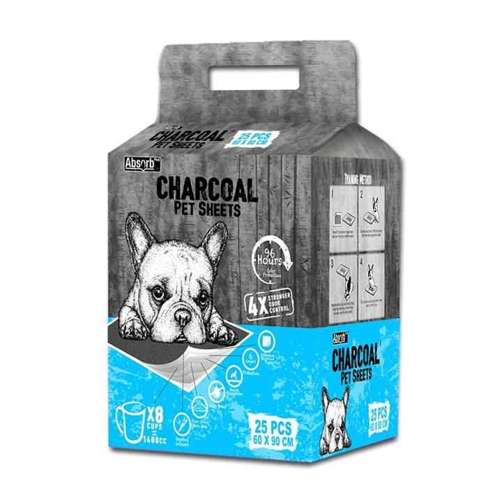 Absorb Plus - Charcoal Pet Sheets - Large x 25 Pads (Blue pack)