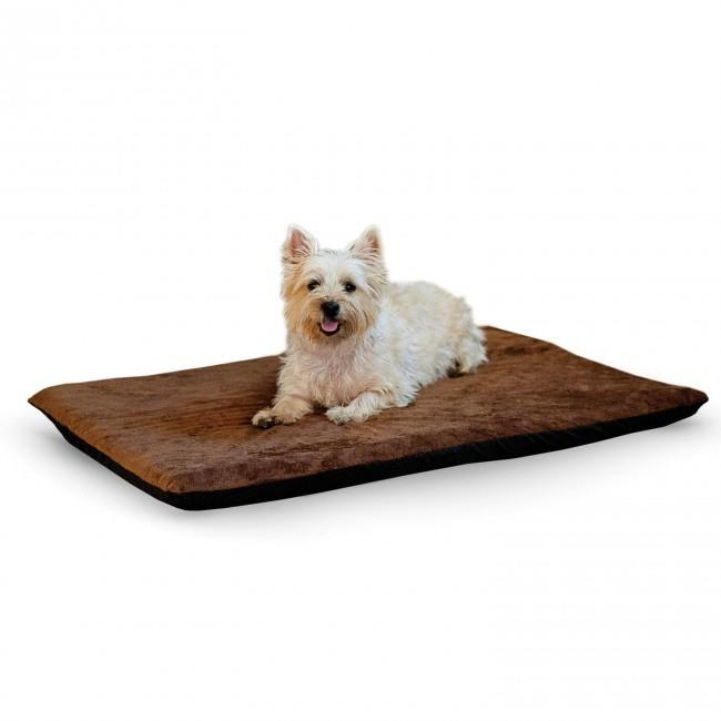 K&H Orthopedic Dual-Thermostat Low-Voltage Heated Pet Bed - Chocolate - Large