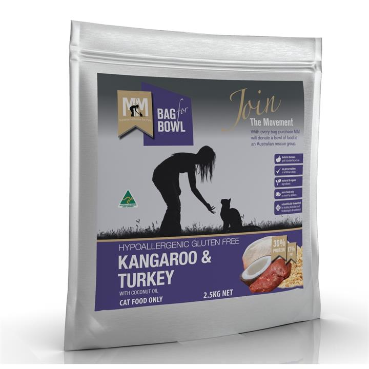 Meals for Meows Kangaroo & Turkey Dry Cat Food - 2.5kg