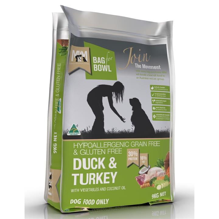 Meals for Mutts Duck & Turkey Dry Dog Food - 9kg