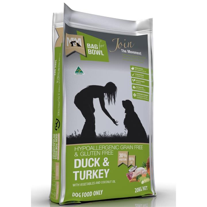 Meals for Mutts Duck & Turkey Dry Dog Food - 20Kg