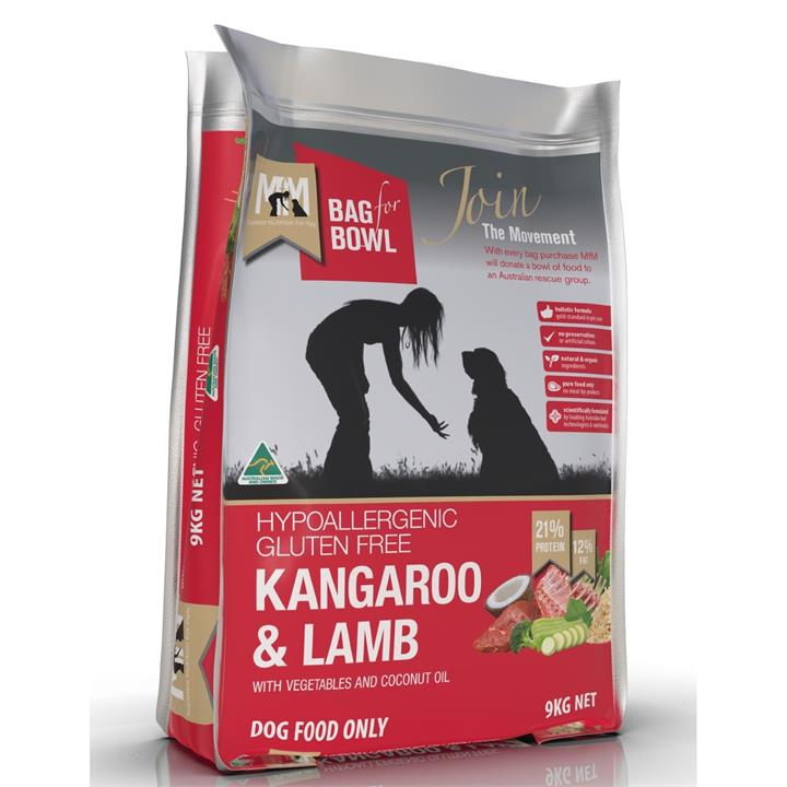 Meals for Mutts Kangaroo & Lamb Dry Dog Food - 9kg