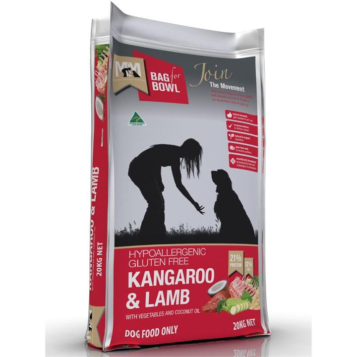 Meals for Mutts Kangaroo & Lamb Dry Dog Food - 20Kg