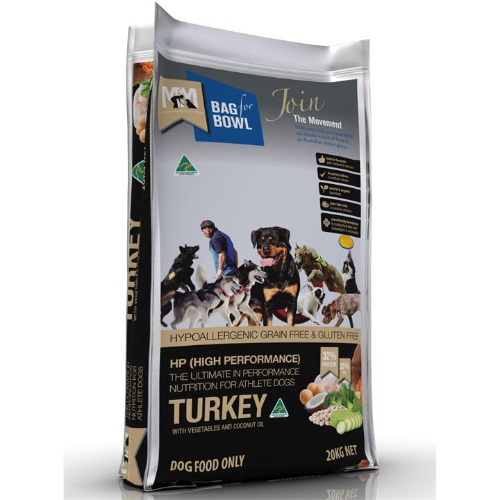 Meals for Mutts High Performance Dog Food - Grain Free Turkey - 20kg