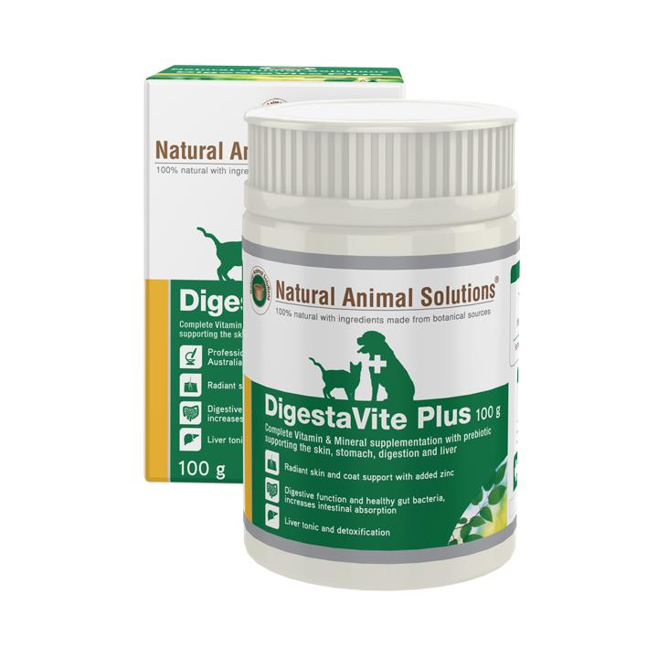 Natural Animal Solutions DigestaVite Plus Supplement for Cats and Dogs 100g