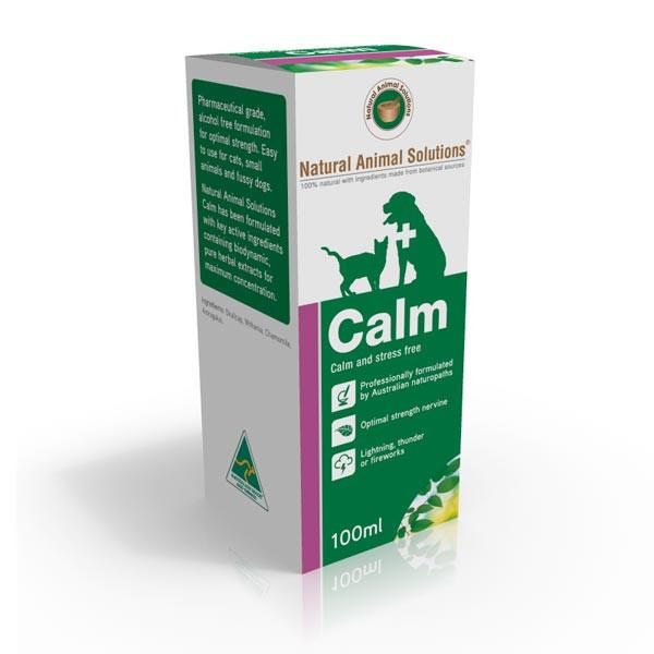 Natural Animal Solutions Calm Anti-Anxiety Treatment for Cats & Dogs 60 Tablets