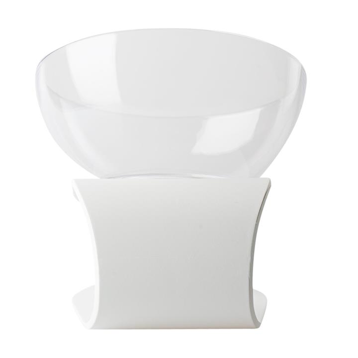 Pidan Designer Raised Cat Bowl with White Base