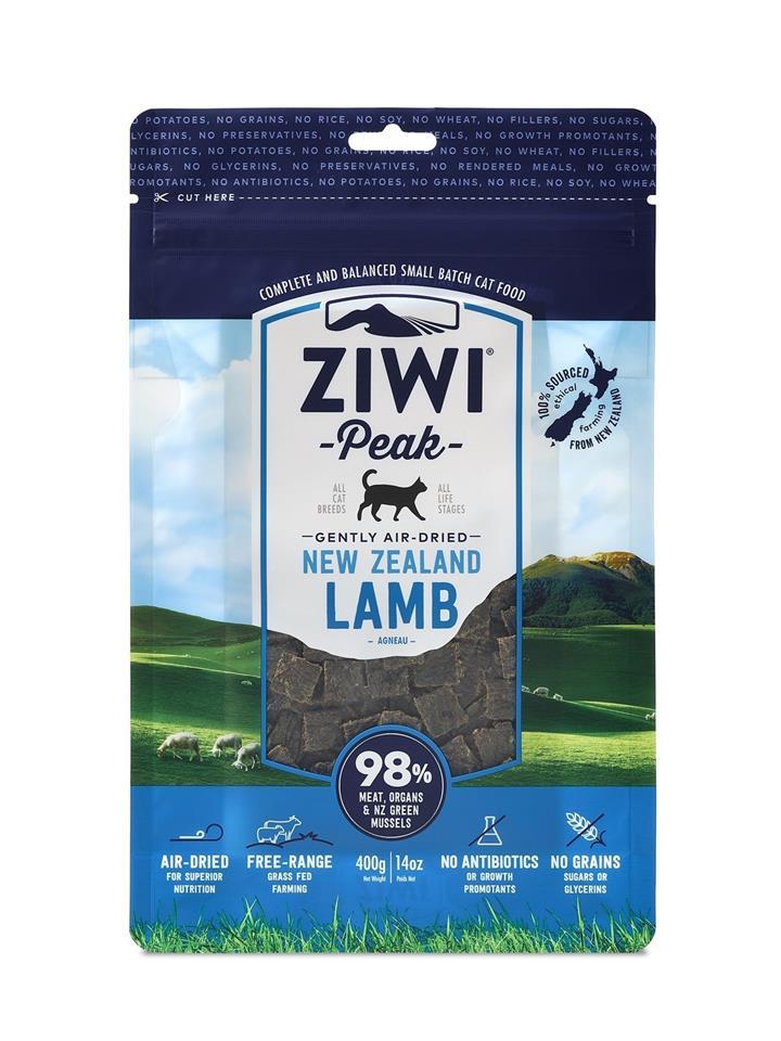 Ziwi Peak Air Dried Cat Food 400g Pouch - Lamb