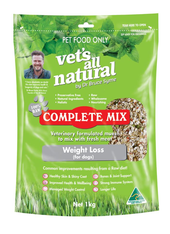 Vets All Natural Complete Mix Muesli for Fresh Meat & Veg Weight Loss for Dogs - 1kg