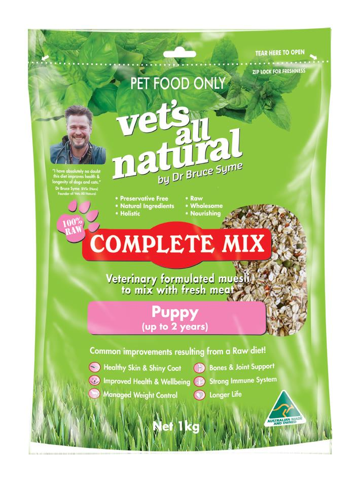 Vets All Natural Complete Mix Muesli for Fresh Meat for Puppies up to 2 years - 1kg